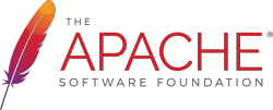 Apache feather logo with text