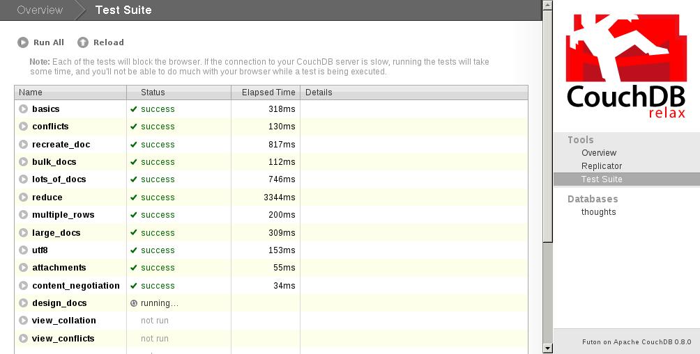 Screenshot Of Couchdb Futon